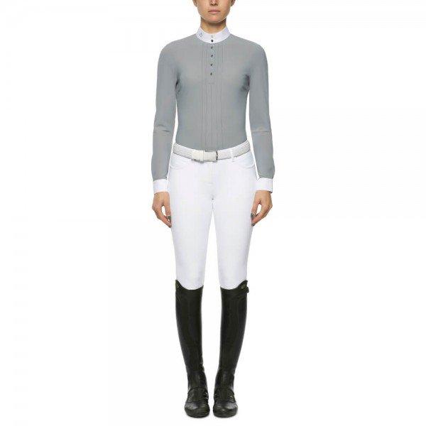 Cavalleria Toscana Turniershirt Damen Pleated Jersey FS21, langarm