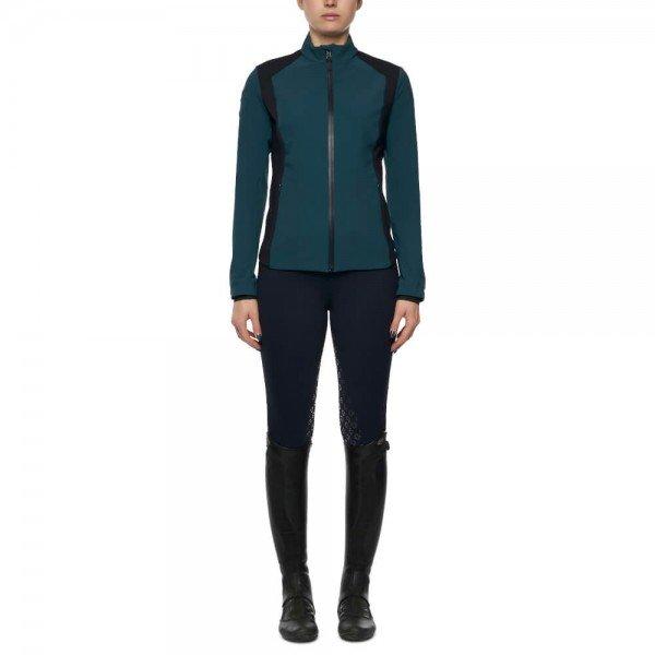 Cavalleria Toscana Jacke Damen Piquet/Jersey Bonded With Lightweight Fleece Jacket, FS21