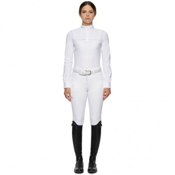 Cavalleria Toscana Turniershirt Damen Jersey L/S Shirt w/Perforated Insert HW21, langarm