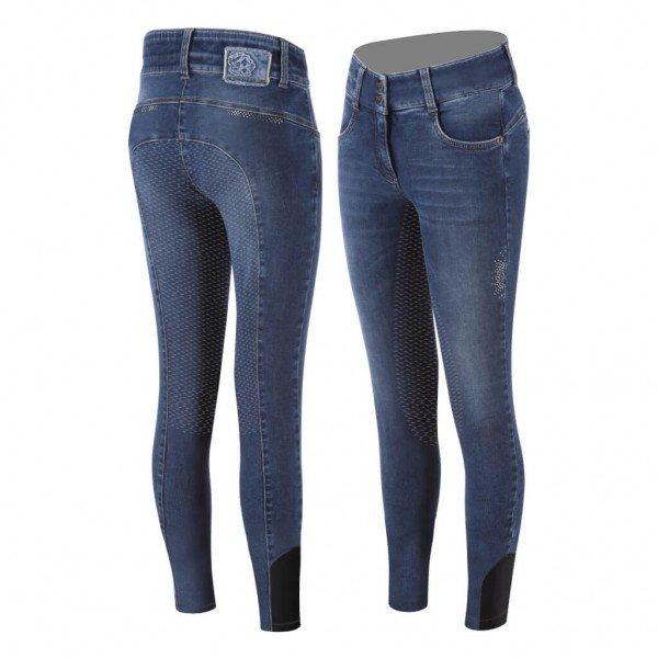 Animo Reithose Damen Neona FS21, Vollbesatz, Full-Grip, Jeans
