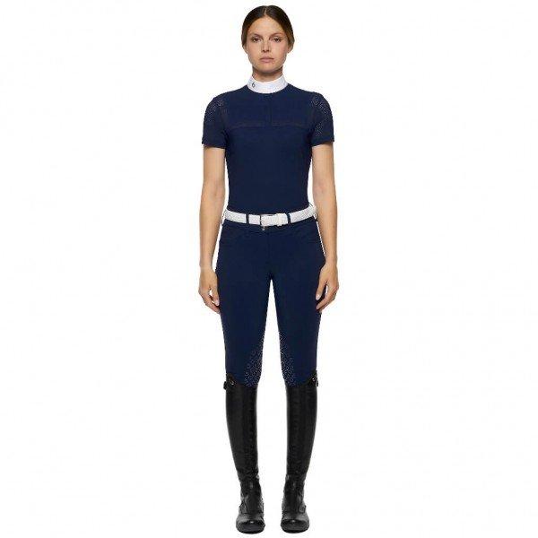 Cavalleria Toscana Turniershirt Damen Jersey S/S Shirt w/Perforated Insert HW21, kurzarm
