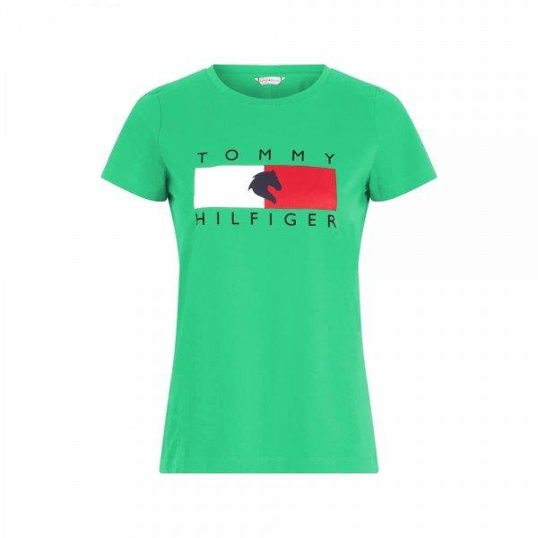 Tommy Hilfiger Equestrian T-Shirt Damen Statement FS21, kurzarm