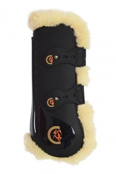 Kentucky Horsewear Gamaschen Elastic Sheepskin, mit Kunstfell