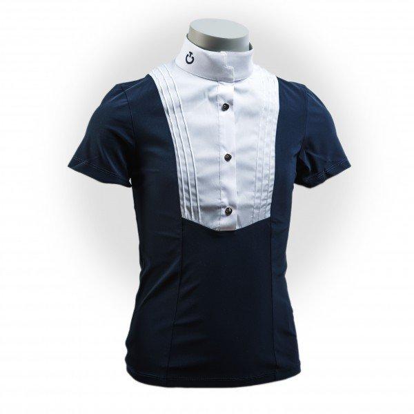 Cavalleria Toscana Turniershirt Mädchen Logo Button Up S/S Shirt W/Bib FS21, kurzarm