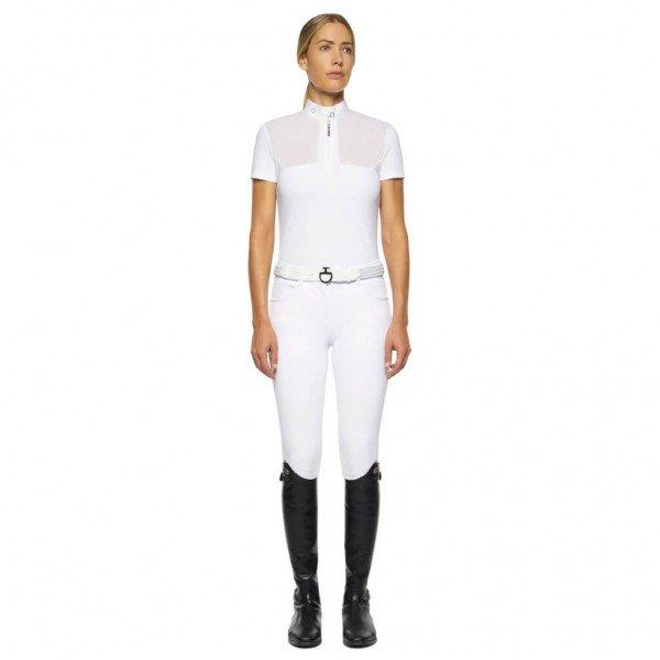 Cavalleria Toscana Turniershirt Damen Jersey Sheer Inserts HW21, kurzarm